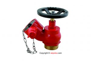 Radius landing valve fire hydrant