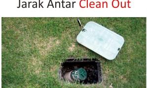 jarak maksimal antar clean out