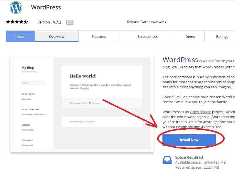 cara install wordpress lewat cpanel 3 - Wepotus.com