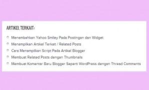 Cara Membuat Related Post / Artikel Terkait di Blogger, Oktober 2017