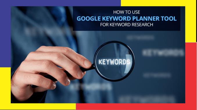 riset kata kunci dengan google keyword planner