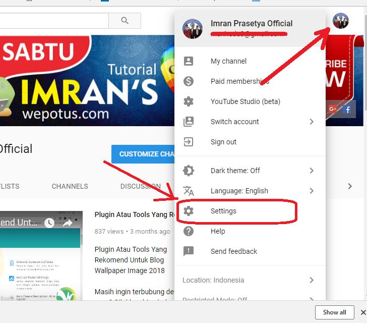 cara membuat channel youtube baru dalam 1 email