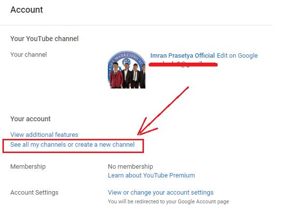 cfara membuat youtube channel