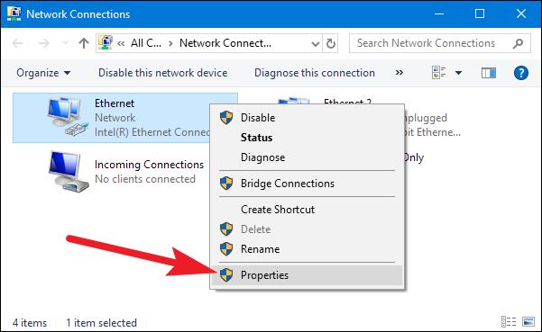 cara setting ip address windows 10