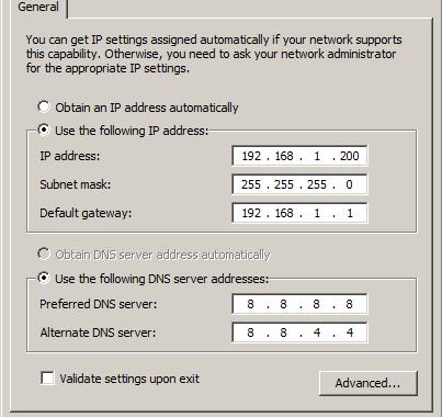 cara setting ip address wifi