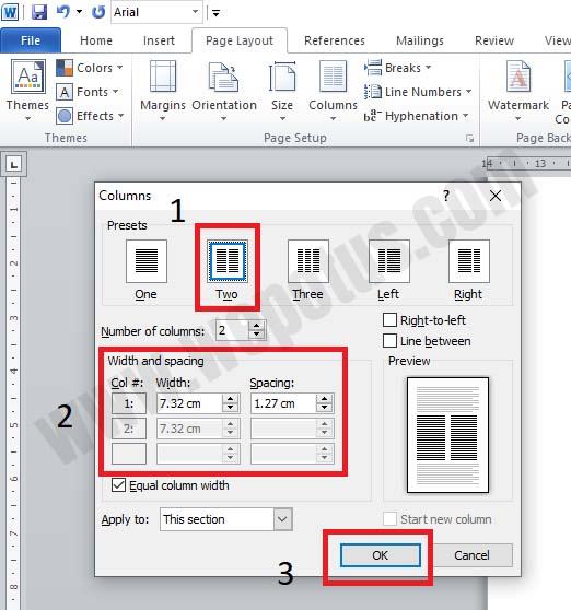 Cara Membuat Kolom Koran di Microsoft Word