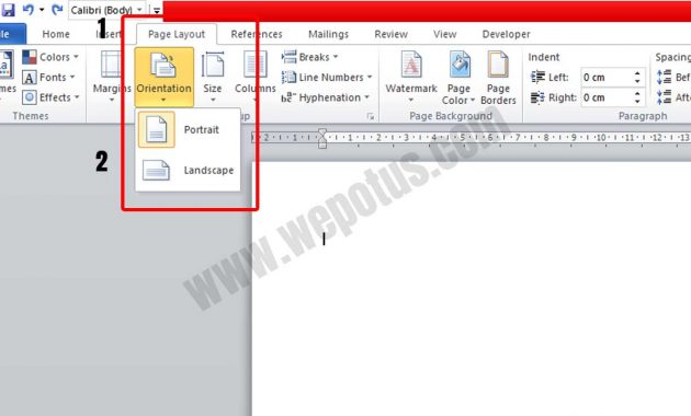 Cara Mengatur Orientasi Kertas di Microsoft Word