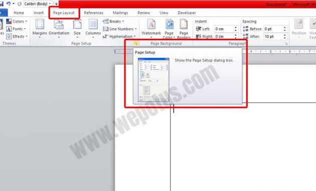 Cara Mengatur Ukuran Kertas Di Microsoft Word 2010