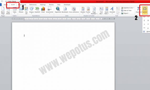 Cara Menyisipkan Simbol di Microsoft Word