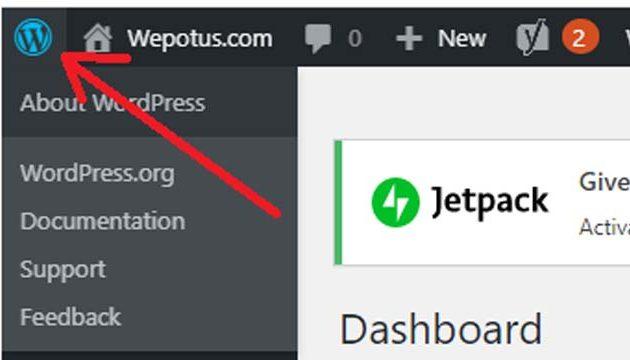 cara melihat versi wordpress