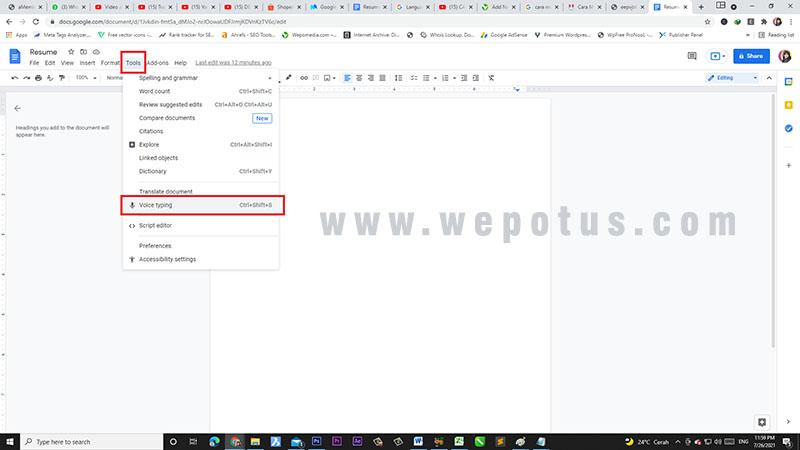 cara transkrip video youtube ke teks